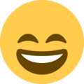 Grinning Face With Smiling Eyes on Twitter Twemoji 12.1