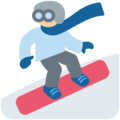 Snowboarder: Medium-Light Skin Tone on Twitter Twemoji 12.1