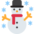 Snowman on Twitter Twemoji 12.1