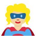 Superhero: Medium-Light Skin Tone on Twitter Twemoji 12.1