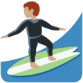 Person Surfing: Medium Skin Tone on Twitter Twemoji 12.1