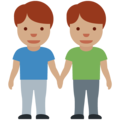 Men Holding Hands: Medium Skin Tone on Twitter Twemoji 12.1