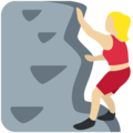Woman Climbing: Medium-Light Skin Tone on Twitter Twemoji 12.1