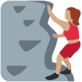 Woman Climbing: Medium Skin Tone on Twitter Twemoji 12.1