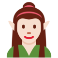 Woman Elf: Light Skin Tone on Twitter Twemoji 12.1