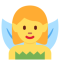 Woman Fairy on Twitter Twemoji 12.1