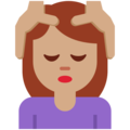 Woman Getting Massage: Medium Skin Tone on Twitter Twemoji 12.1