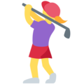 Woman Golfing on Twitter Twemoji 12.1