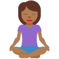 Woman in Lotus Position: Medium-Dark Skin Tone on Twitter Twemoji 12.1