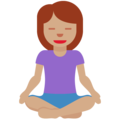 Woman in Lotus Position: Medium Skin Tone on Twitter Twemoji 12.1