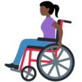 Woman in Manual Wheelchair: Dark Skin Tone on Twitter Twemoji 12.1