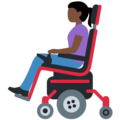 Woman in Motorized Wheelchair: Dark Skin Tone on Twitter Twemoji 12.1