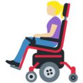 Woman in Motorized Wheelchair: Medium-Light Skin Tone on Twitter Twemoji 12.1