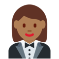 Woman in Tuxedo: Medium-Dark Skin Tone on Twitter Twemoji 12.1