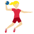 Woman Playing Handball: Medium-Light Skin Tone on Twitter Twemoji 12.1