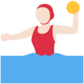 Woman Playing Water Polo: Light Skin Tone on Twitter Twemoji 12.1