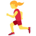 Woman Running on Twitter Twemoji 12.1