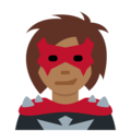 Woman Supervillain: Medium-Dark Skin Tone on Twitter Twemoji 12.1