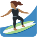 Woman Surfing: Medium-Dark Skin Tone on Twitter Twemoji 12.1