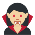 Woman Vampire: Medium-Light Skin Tone on Twitter Twemoji 12.1