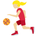 Woman Bouncing Ball: Medium-Light Skin Tone on Twitter Twemoji 12.1