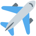 Airplane on Twitter Twemoji 12.1.3
