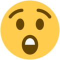 Astonished Face on Twitter Twemoji 12.1.3