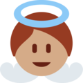 Baby Angel: Medium Skin Tone on Twitter Twemoji 12.1.3