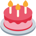 Birthday Cake on Twitter Twemoji 12.1.3