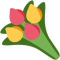 Bouquet on Twitter Twemoji 12.1.3