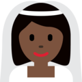 Bride With Veil: Dark Skin Tone on Twitter Twemoji 12.1.3