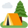 Camping on Twitter Twemoji 12.1.3