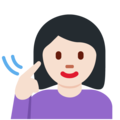 Deaf Woman: Light Skin Tone on Twitter Twemoji 12.1.3