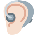Ear With Hearing Aid: Light Skin Tone on Twitter Twemoji 12.1.3