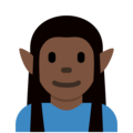Elf: Dark Skin Tone on Twitter Twemoji 12.1.3