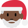 Santa Claus: Dark Skin Tone on Twitter Twemoji 12.1.3