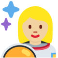 Woman Astronaut: Medium-Light Skin Tone on Twitter Twemoji 12.1.3
