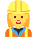 Woman Construction Worker on Twitter Twemoji 12.1.3