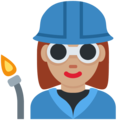 Woman Factory Worker: Medium Skin Tone on Twitter Twemoji 12.1.3