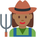 Woman Farmer: Medium-Dark Skin Tone on Twitter Twemoji 12.1.3