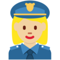 Woman Police Officer: Medium-Light Skin Tone on Twitter Twemoji 12.1.3