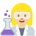 Woman Scientist: Medium-Light Skin Tone on Twitter Twemoji 12.1.3