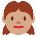 Girl: Medium Skin Tone on Twitter Twemoji 12.1.3
