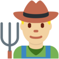 Man Farmer: Medium-Light Skin Tone on Twitter Twemoji 12.1.3