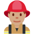 Man Firefighter: Medium Skin Tone on Twitter Twemoji 12.1.3