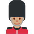 Man Guard: Medium Skin Tone on Twitter Twemoji 12.1.3
