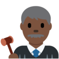 Man Judge: Dark Skin Tone on Twitter Twemoji 12.1.3