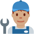 Man Mechanic: Medium Skin Tone on Twitter Twemoji 12.1.3