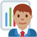 Man Office Worker: Medium Skin Tone on Twitter Twemoji 12.1.3