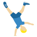 Man Cartwheeling: Medium-Light Skin Tone on Twitter Twemoji 12.1.3